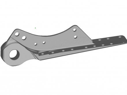 Scanned wing hinge bracket